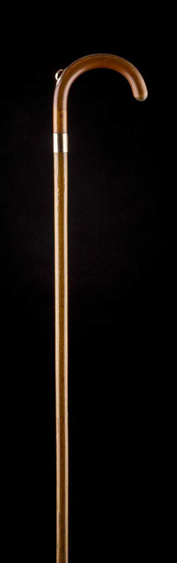 WALKING STICK WITH GOLD MOUNTED PENCIL - photo 1