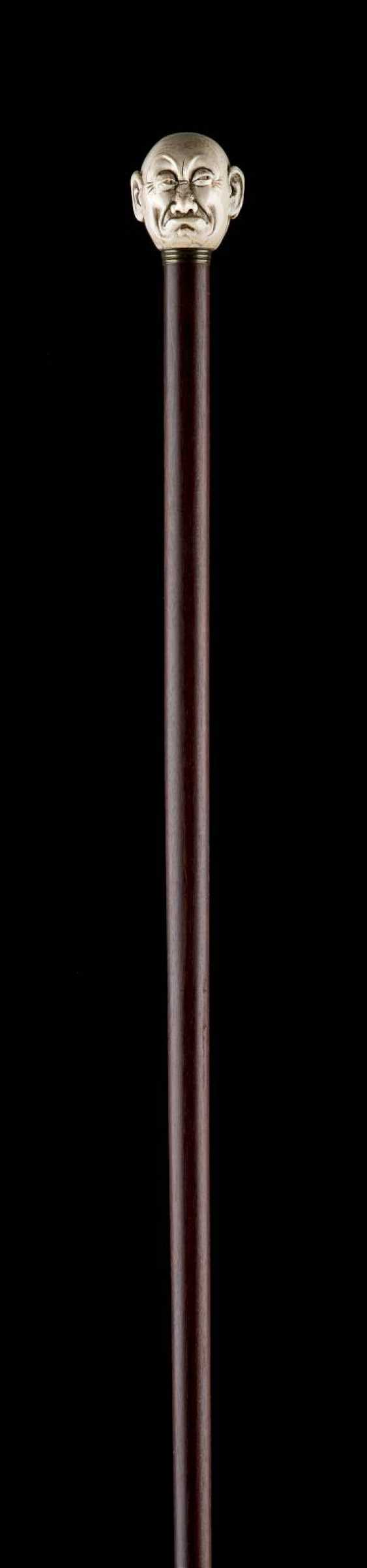 THE JANUS-HEADED ART-DECO-WALKING STICK - photo 1