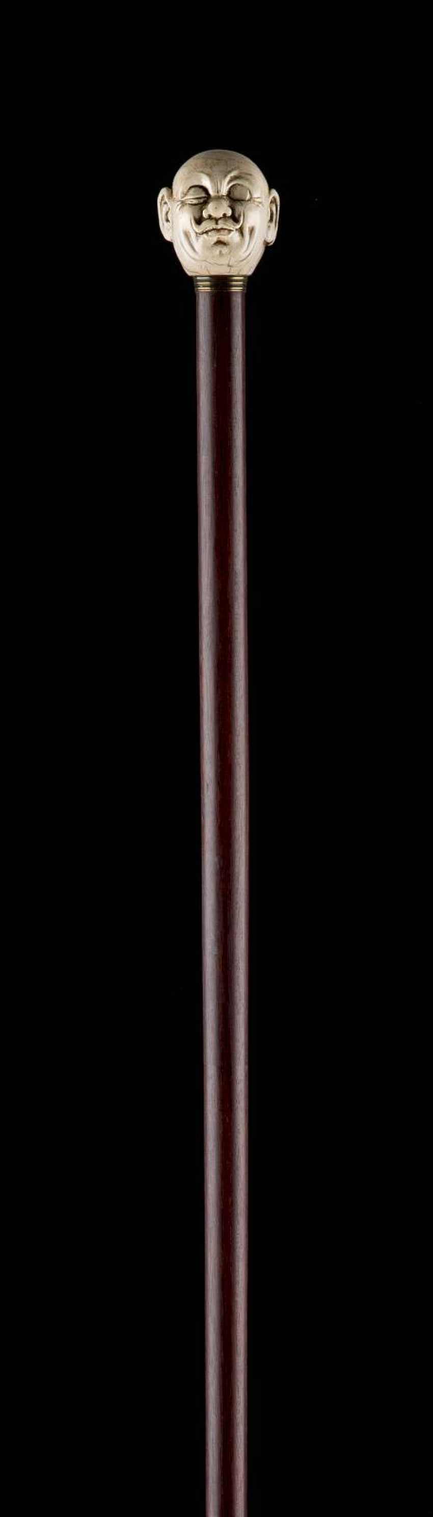 THE JANUS-HEADED ART-DECO-WALKING STICK - photo 2
