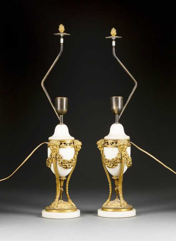PAIR OF STONE LAMPS - photo 1