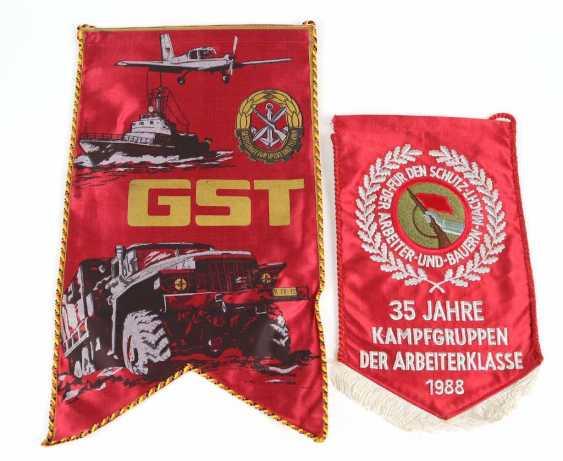 GST und Kampfgruppen Wimpel  - photo 1