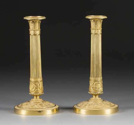 PAIR OF CANDLESTICKS - photo 1