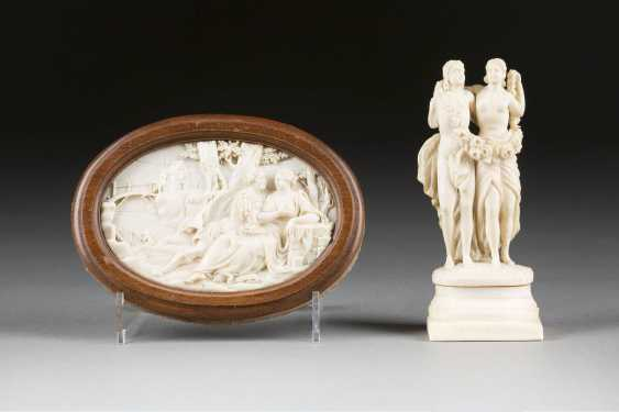 IVORY FIGURE AND RELIEF - photo 1