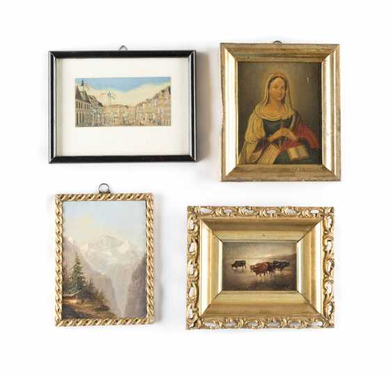 FOUR SMALL-FORMAT PAINTINGS - photo 1
