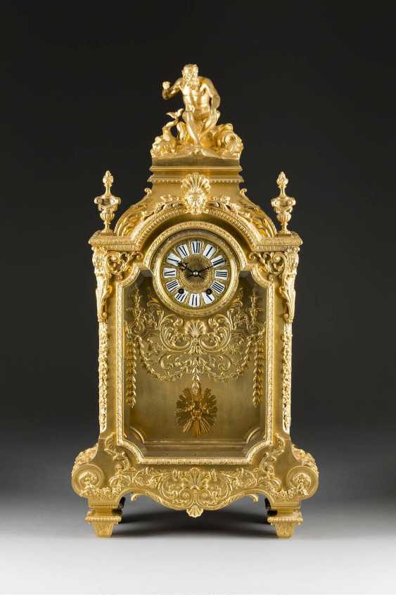 LOUIS-CONSTANT SÉVIN 1821 Versailles 1888 Neuilly-sur-Seine (draft) high-significant mantel clock, Paris, France, by Ferdinand Barbedienne, 2. Half of the 19th century. Century - photo 1