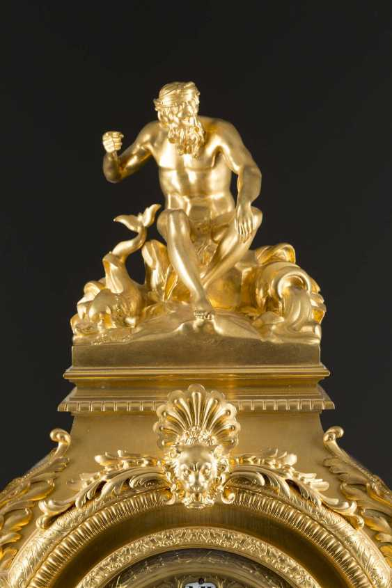 LOUIS-CONSTANT SÉVIN 1821 Versailles 1888 Neuilly-sur-Seine (draft) high-significant mantel clock, Paris, France, by Ferdinand Barbedienne, 2. Half of the 19th century. Century - photo 3