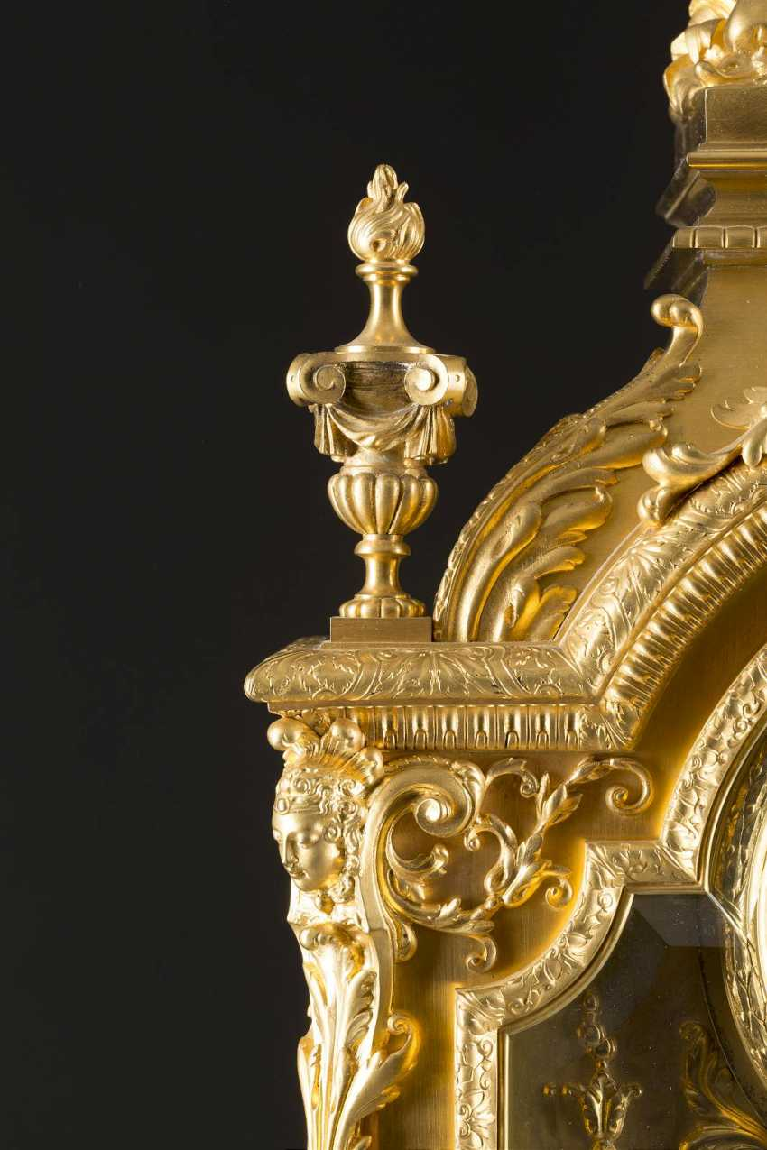 LOUIS-CONSTANT SÉVIN 1821 Versailles 1888 Neuilly-sur-Seine (draft) high-significant mantel clock, Paris, France, by Ferdinand Barbedienne, 2. Half of the 19th century. Century - photo 4