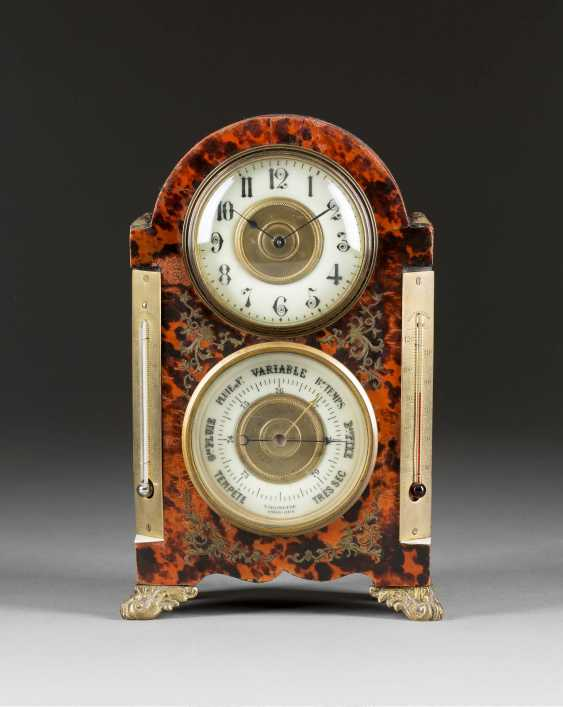 TABLE CLOCK WITH BAROMETER - photo 1