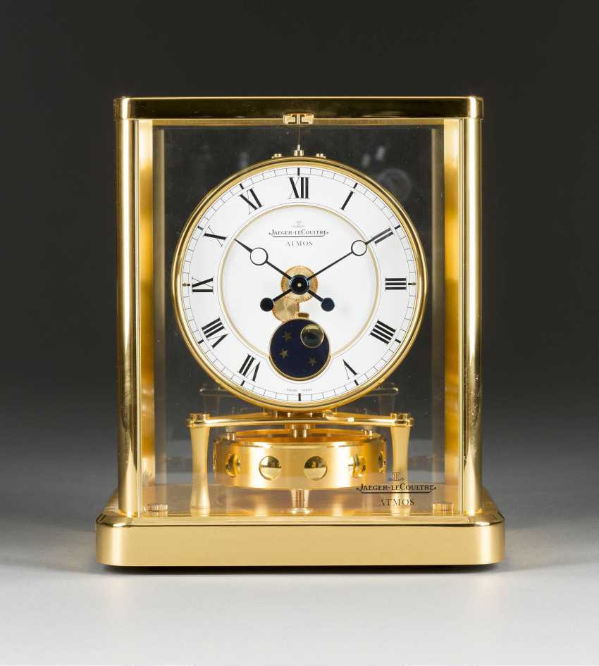 Table CLOCK 'ATMOS' WITH moon phase Switzerland, Jaeger Le Coultre, 2002. - photo 1
