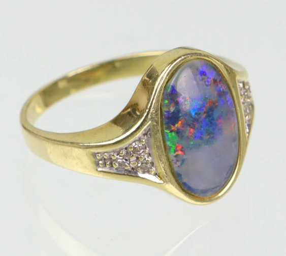 Opal Diamant Ring Gelbgold 585 - photo 1