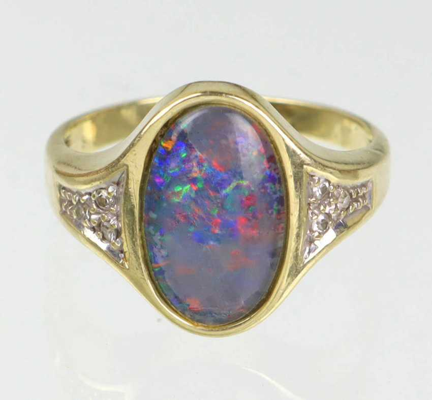 Opal Diamant Ring Gelbgold 585 - photo 2