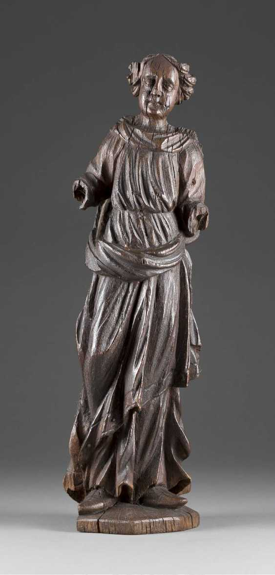 FIGURE of A SAINT in Flanders, 16. Century - photo 1