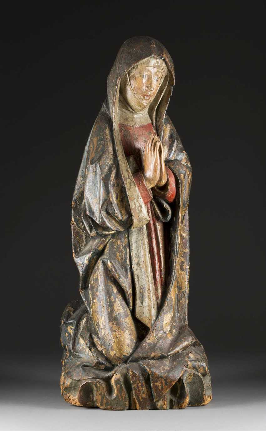 Mother of GOD, FROM A crucifixion group, Swabia, upper Franconia, around 1480/ 1500. - photo 1