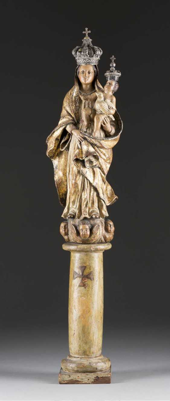 MOTHER OF GOD WITH CHILD ON ONE COLUMN - photo 1