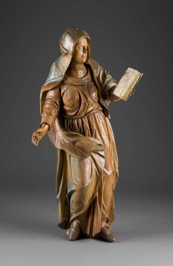 MONUMENTAL STATUE OF THE VIRGIN MARY FROM A CRUCIFIXION GROUP - photo 1