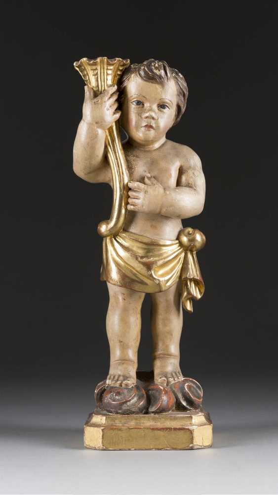 Candlestick, angel, Italy, 18. Century - photo 1