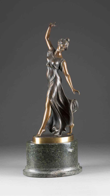 RUDOLF KÜCHLER 1867 in Vienna - 1954 (?) Art Nouveau Dancer - photo 1