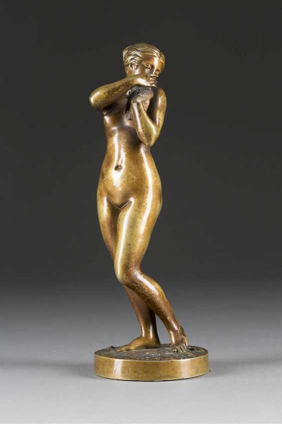 CHARLES AUGUSTE FRAIKIN 1817 Herentals - 1893 Schaerbeek female Nude with a dove - photo 1