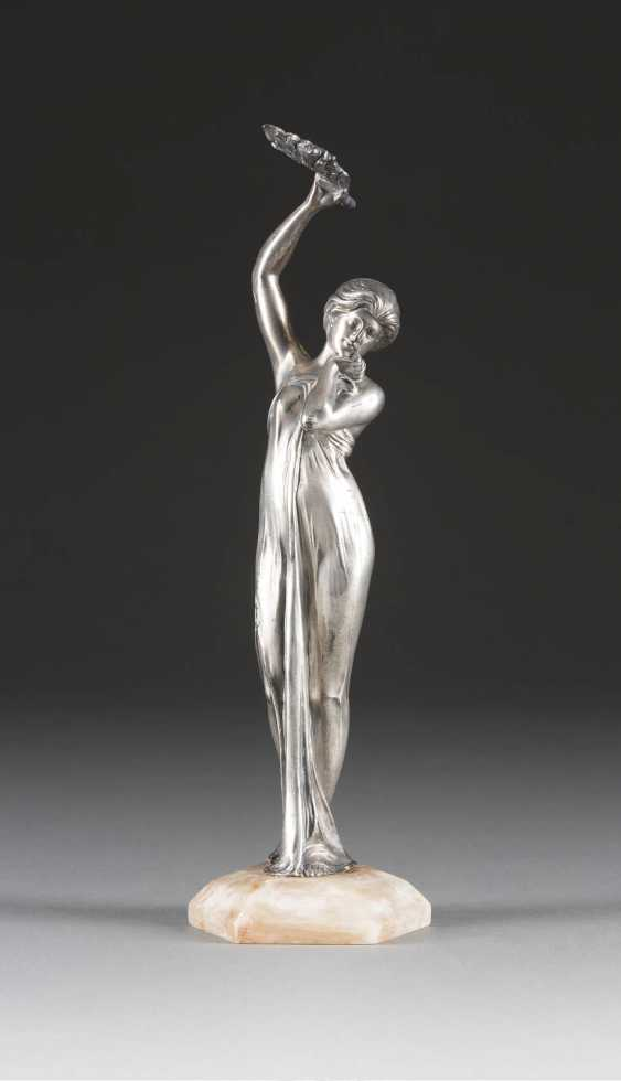 UNKNOWN image sculptor Active at the beginning of 20. Century art NOUVEAU FIGURE - photo 1