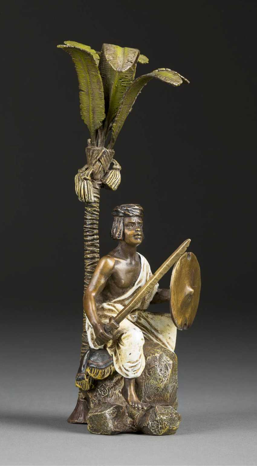 FRANZ XAVER BERGMANN 1861 - 1932 who was active in Vienna is the seat of the swordsman - photo 1