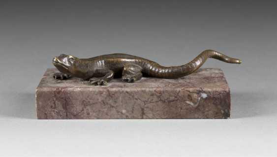 VIENNA'S IMAGE OF SCULPTOR (?) Active 1. Half of the 20. Century Lizard - photo 1
