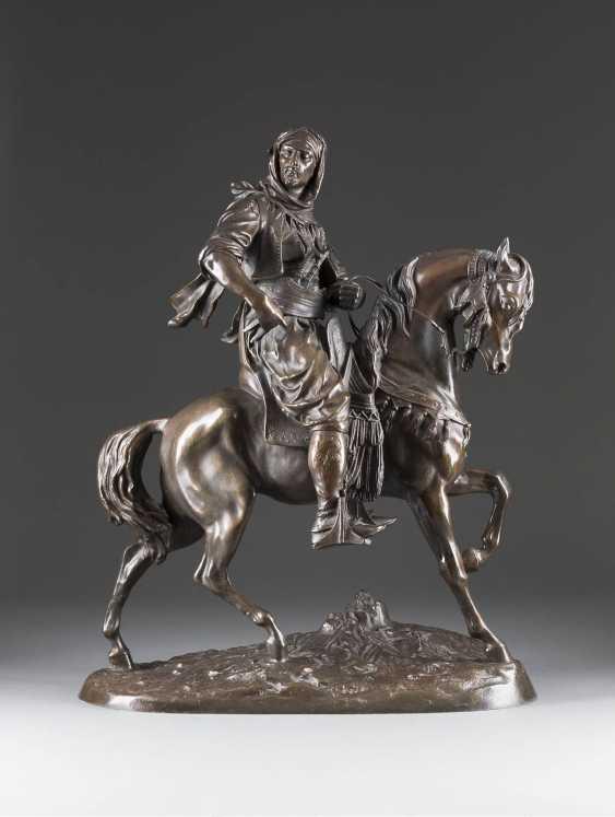 ALFRED BARYE 1839 Paris - 1882 ibid Arabian warrior - photo 1