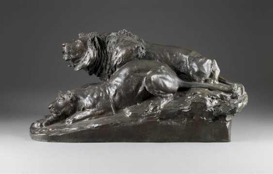 JOSEPH FRANZ PALLENBERG in 1882, the Cologne - 1946 Düsseldorf-Lying pair of lions - photo 1