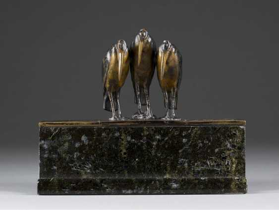 WIENER image sculptor Active 1. Half of the 20. Century Figural Inkwell - photo 1