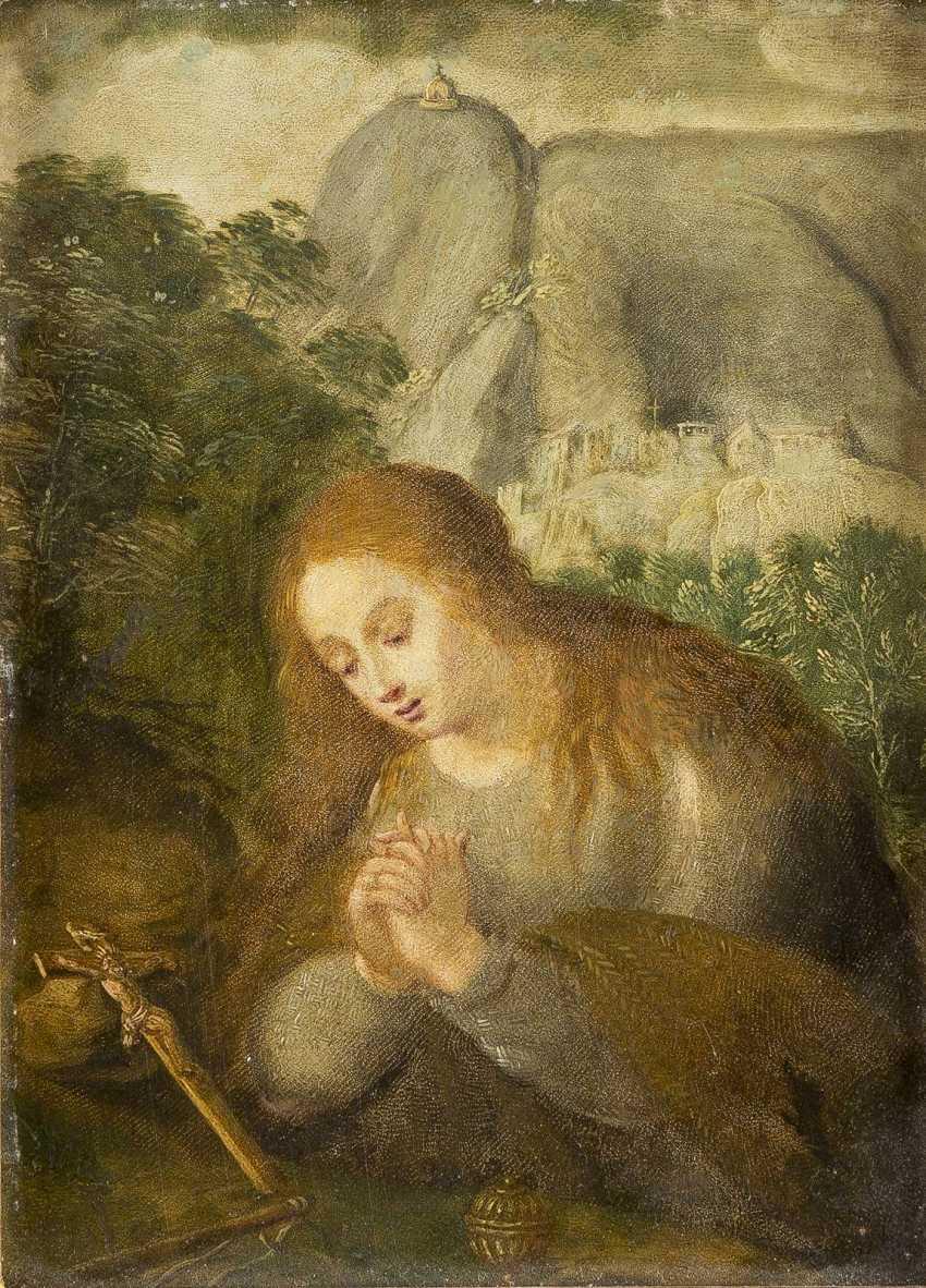 Top Italian/ALPINE MASTER, around 1700, THE PRAYING to MARY MAGDALENE - photo 1