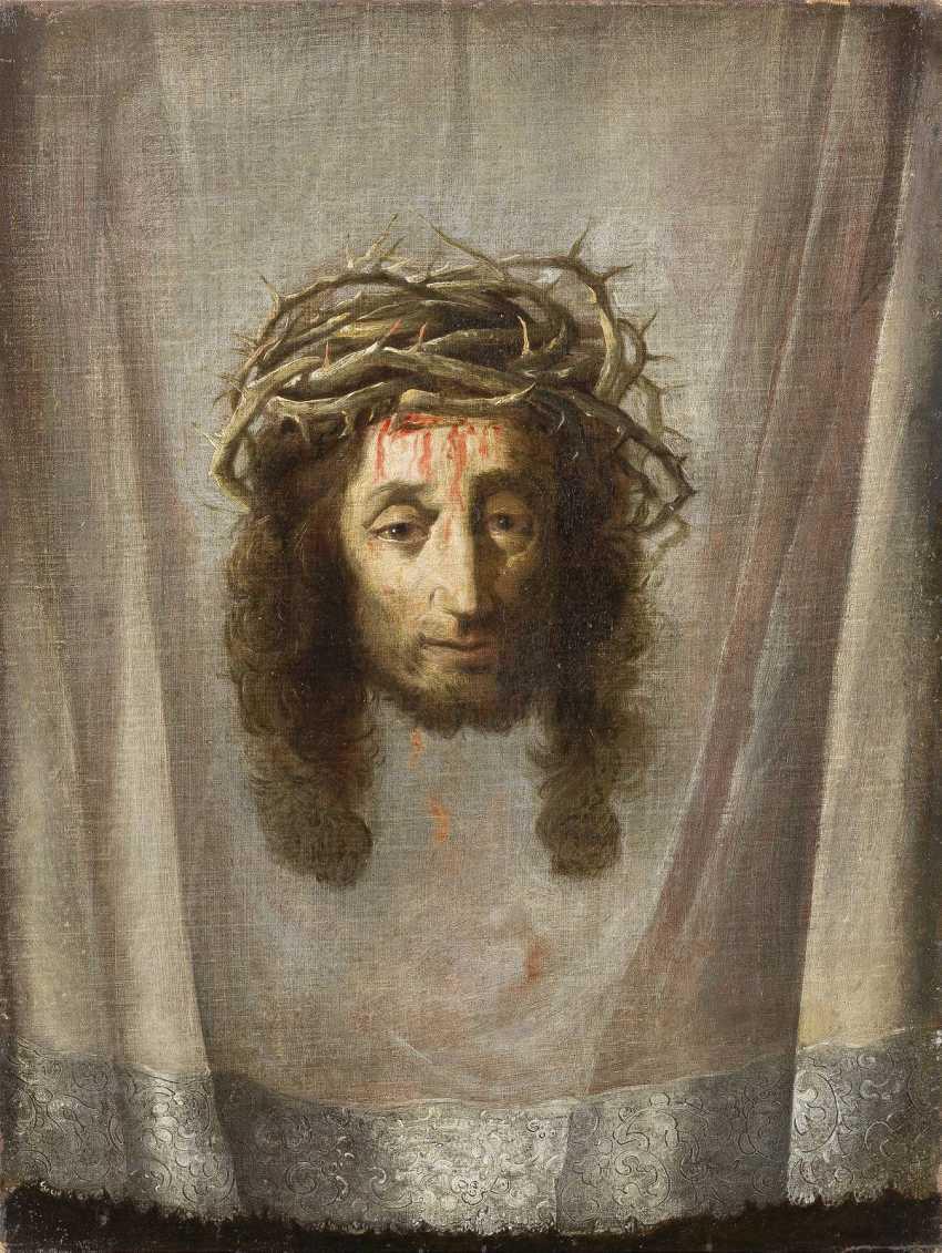 The SPANISH MASTER, around 1700, sweat-cloth OF VERONICA - photo 1