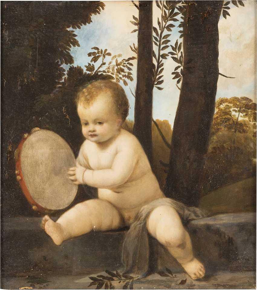 NORDITALIENISCHE SCHULE Meister, tätig wohl 17. Jahrhundert TAMBURIN SPIELENDER EROT - photo 1