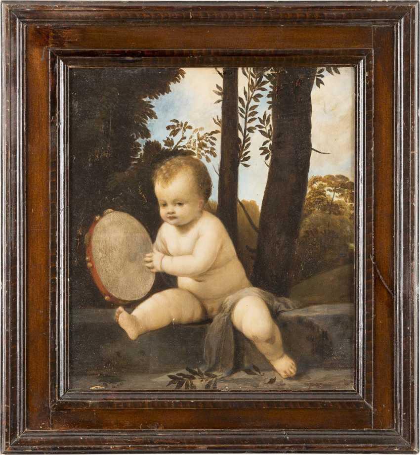 NORDITALIENISCHE SCHULE Meister, tätig wohl 17. Jahrhundert TAMBURIN SPIELENDER EROT - photo 2