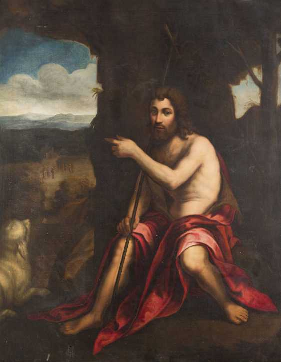 ITALIENISCHER MEISTER Tätig, wohl 17. Jahrhundert JOHANNES DER TÄUFER IN DER WILDNIS - photo 1