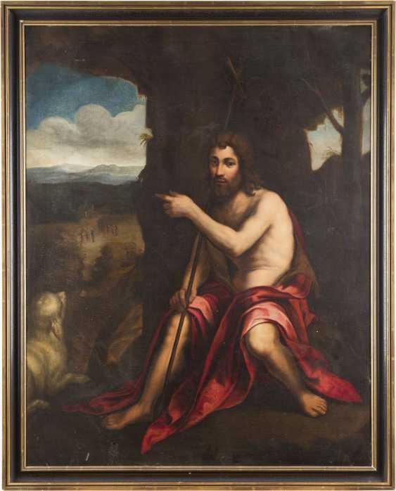 ITALIENISCHER MEISTER Tätig, wohl 17. Jahrhundert JOHANNES DER TÄUFER IN DER WILDNIS - photo 2