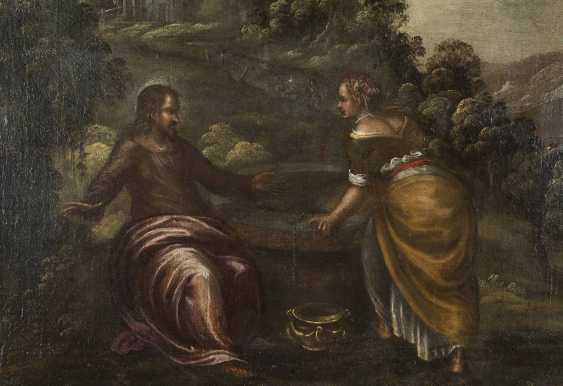 LODEWIJK TOEPUT (ATTR.) Um 1550 Antwerpen - 1603/05 Treviso CHRISTUS UND DIE SAMARITERIN - photo 3