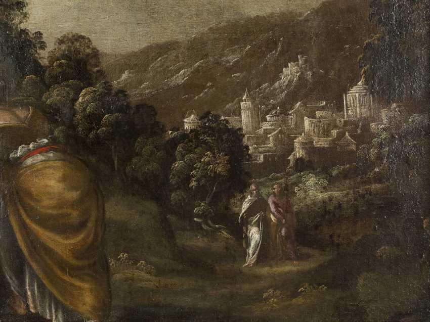 LODEWIJK TOEPUT (ATTR.) Um 1550 Antwerpen - 1603/05 Treviso CHRISTUS UND DIE SAMARITERIN - photo 4