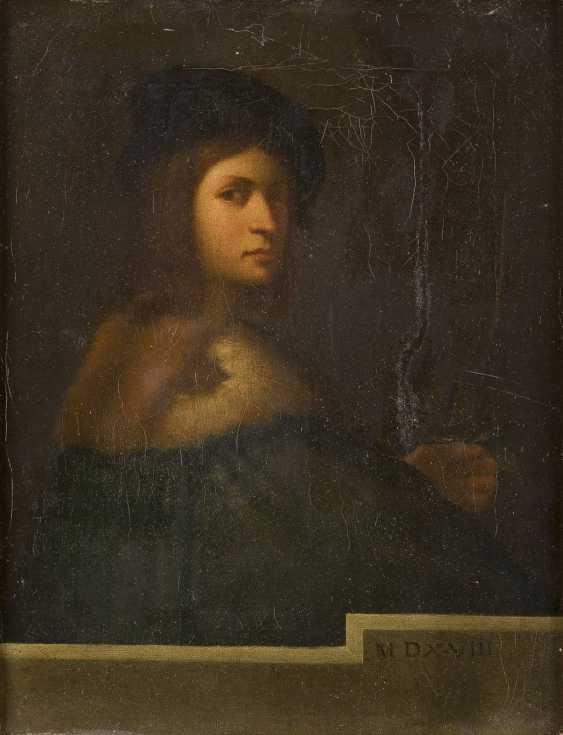SEBASTIANO DEL PIOMBO UND TIZIANO VECCELLIO (IN DER ART DES/NACHFOLGER) 1485 Venedig - 1547 Rom und 1488 Pieve di Cadore - 1576 Venedig ZWEI GEMÄLDE: NACH SEBASTIANO DEL PIOMBO (DER VIOLINENSPIELER) UND TIZIANO VECCELLIO (LA BELLA) - photo 1