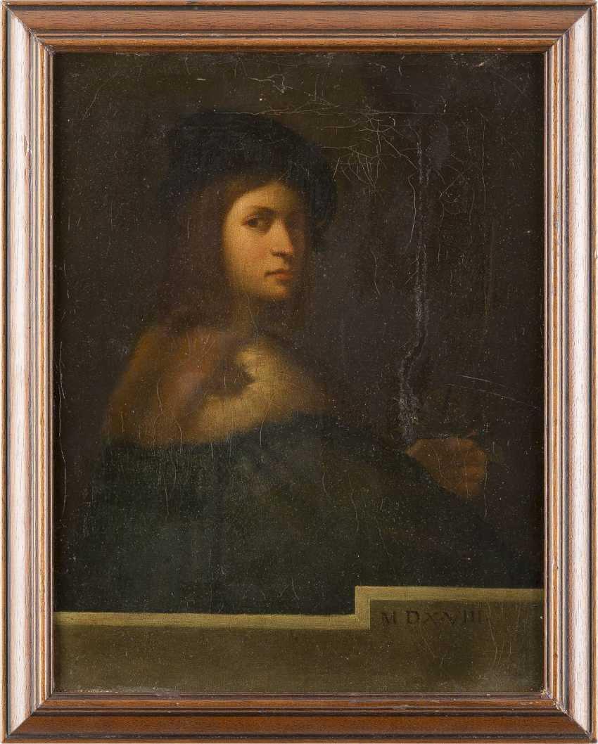 SEBASTIANO DEL PIOMBO UND TIZIANO VECCELLIO (IN DER ART DES/NACHFOLGER) 1485 Venedig - 1547 Rom und 1488 Pieve di Cadore - 1576 Venedig ZWEI GEMÄLDE: NACH SEBASTIANO DEL PIOMBO (DER VIOLINENSPIELER) UND TIZIANO VECCELLIO (LA BELLA) - photo 2