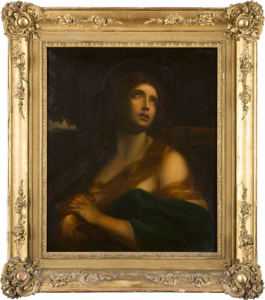 GUIDO RENI (IN DER ART DES) 1575 Calvenzano - 1642 Bologna DIE BÜSSENDE MARIA MAGDALENA - photo 2
