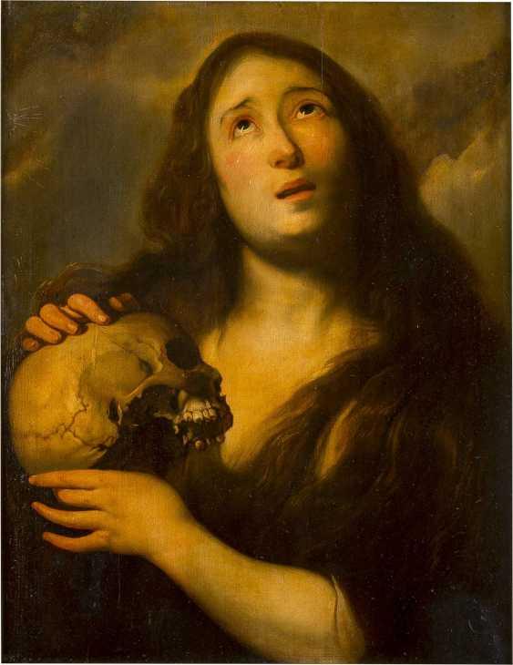 JAN COSSIERS (ATTR.) 1600 Antwerpen - 1671 Ebenda MARIA MAGDALENA MIT SCHÄDEL - photo 1