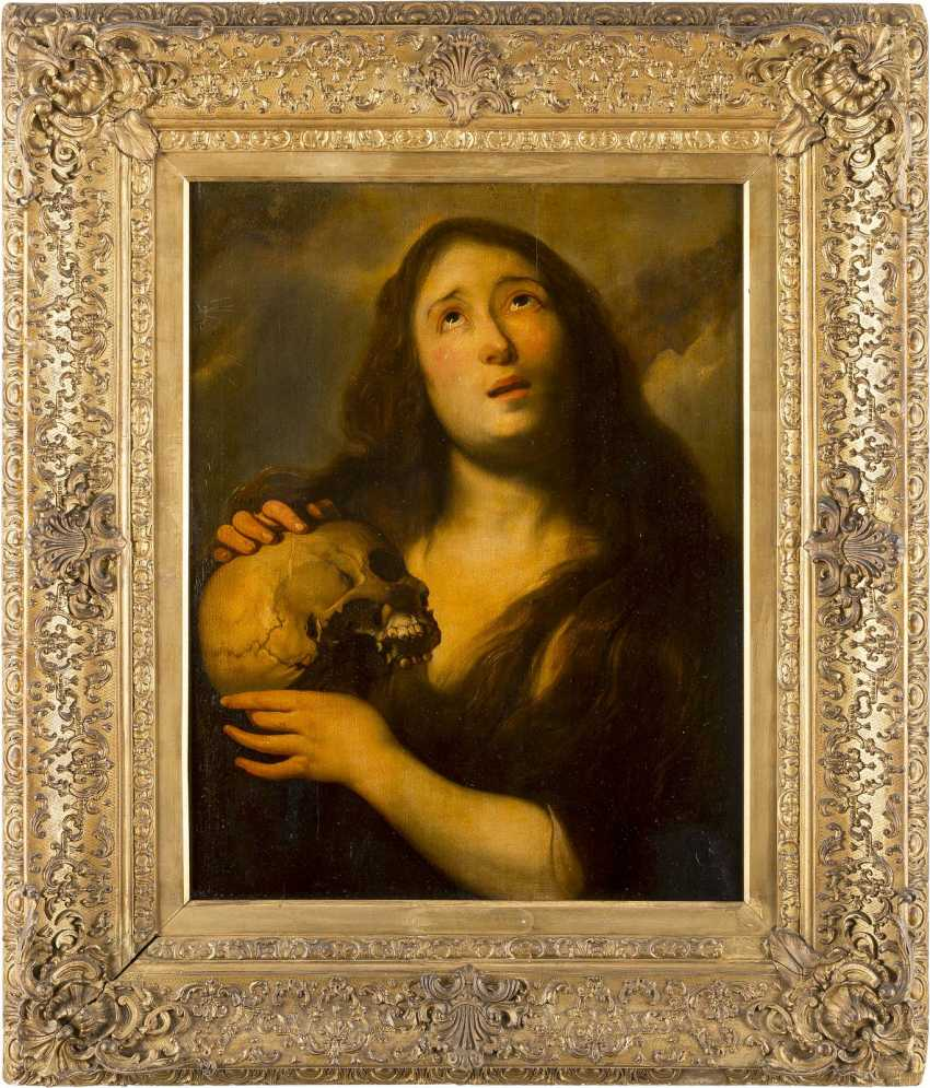 JAN COSSIERS (ATTR.) 1600 Antwerpen - 1671 Ebenda MARIA MAGDALENA MIT SCHÄDEL - photo 2