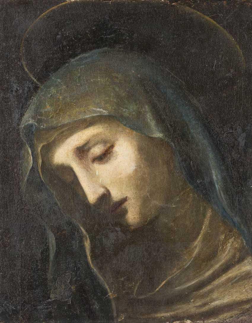 LUDOVICO CIGOLI (CIRCLE) 1559 Castelvécchio (Empoli) - 1613 Rom FRAGMENT EINER BEWEINUNG CHRISTI; KOPF DER MARIA - photo 1