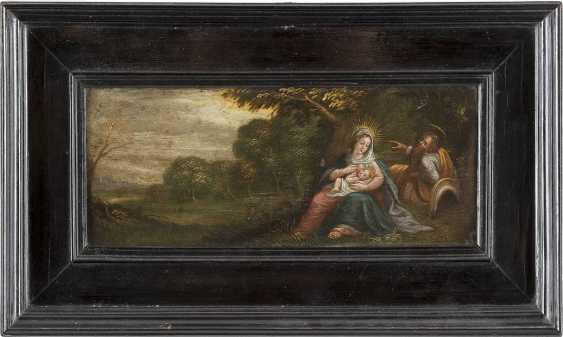 FRANS FRANCKEN II. (SCHULE/UMKREIS ?) 1581 Antwerpen - 1642 Ebenda RUHE AUF DER FLUCHT NACH ÄGYPTEN - photo 2