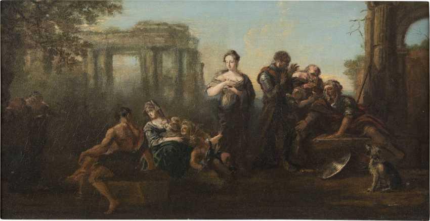 FRANZÖSISCHER MEISTER Tätig im 18. Jahrhundert ALLEGORISCHE SZENE - photo 1