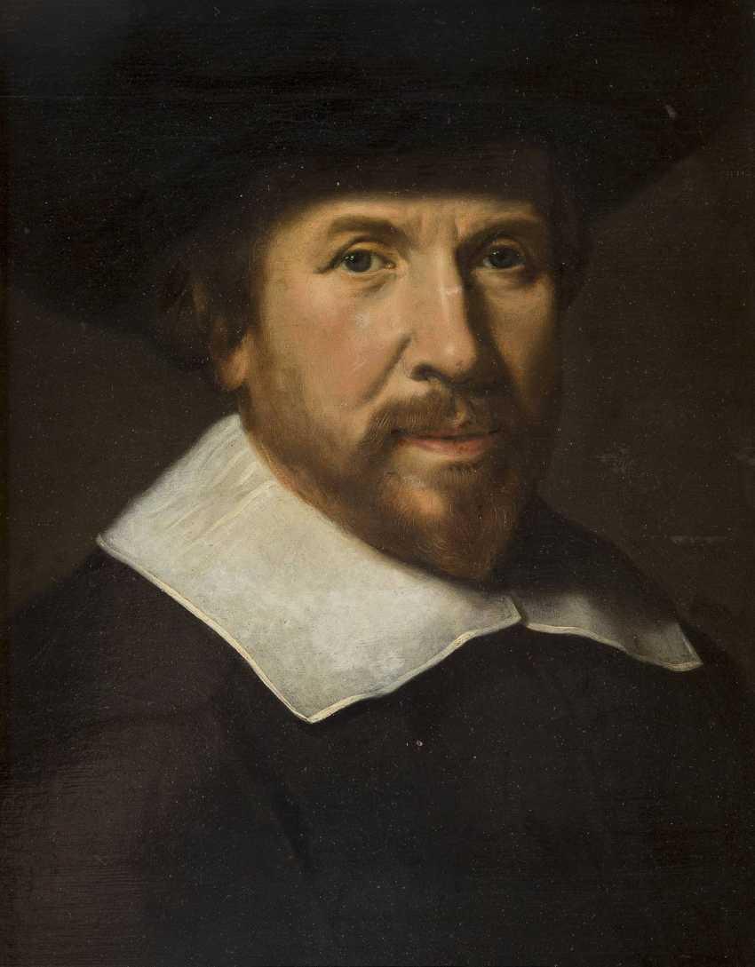 NIEDERLÄNDISCHER MEISTER Tätig, Mitte 17. Jahrhundert PORTRAIT EINES EDELMANNES - photo 1