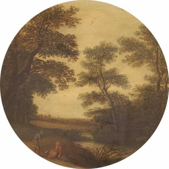 PIETER JANSZ VAN ASCH (ATTR.) 1603 Delft - 1678 Ebenda SEENLANDSCHAFT MIT ZWEI LAGERNDEN BAUERN - photo 1