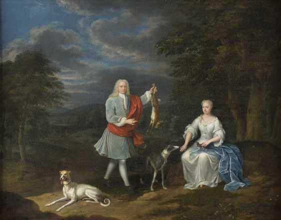 ABRAHAM CARREE 1694 Den Haag - 1762 Ebenda HASENJAGD - photo 1