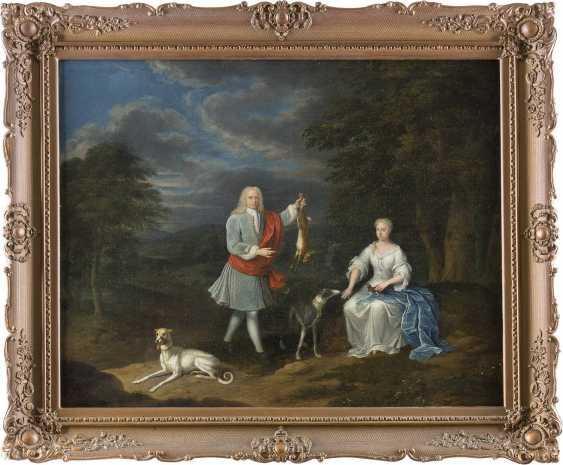 ABRAHAM CARREE 1694 Den Haag - 1762 Ebenda HASENJAGD - photo 2