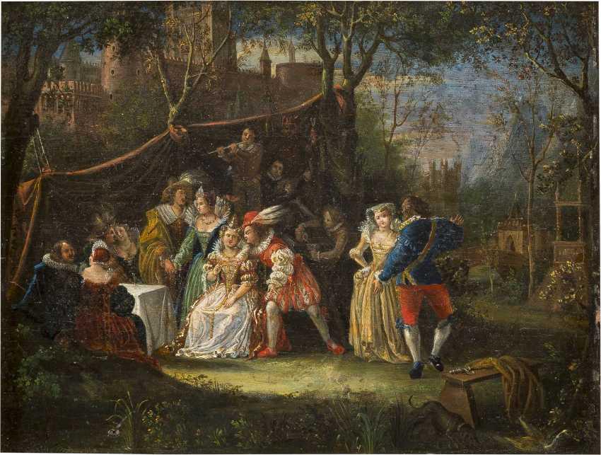 JOZEF VAN AKEN (ATTR.) 1699 (?) Antwerpen - 1749 London FETE CHAMPETRE - photo 1