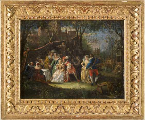 JOZEF VAN AKEN (ATTR.) 1699 (?) Antwerpen - 1749 London FETE CHAMPETRE - photo 2